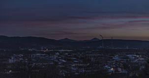 После захода солнца в Usti nad Labem Стоковое Изображение