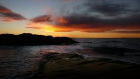 После захода солнца пляжем Стоковые Фотографии RF