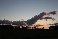 После захода солнца шторма Стоковые Изображения
