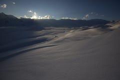 Последнее ligth дня на долине Стоковое Фото