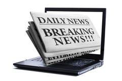 Последние новости интернета Стоковое Изображение RF