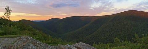 Заход солнца Mt. Greylock от каменистого Риджа Стоковые Фото
