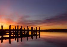 Последний восход солнца Стоковые Фото