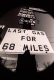 Последний знак газа Стоковое Фото