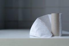 Последний лист туалетной бумаги стоковое изображение rf