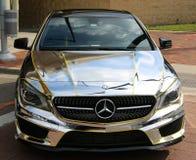 Последний модельный Benz Мерседес хрома Стоковое Изображение RF