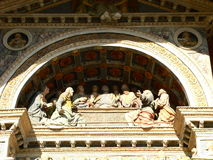 Последний обедающий, Cathedrale Notre-Дам-de-l'Assomption, Aoste (Италия) Стоковая Фотография RF