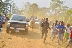 Последний дом матери президента Laurent Gbagbo Стоковая Фотография
