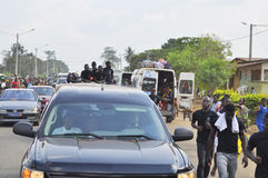 Последний дом матери президента Laurent Gbagbo Стоковые Фото