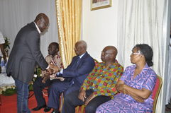Последний дом матери президента Laurent Gbagbo Стоковые Изображения RF