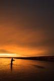 Последний свет в Патагонии Стоковое Фото