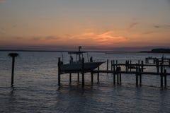 Последний свет над рекой Стоковая Фотография