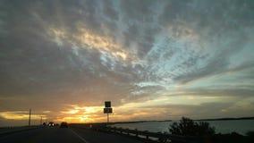 Последний свет Солнця Стоковые Фото