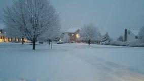 Последний снег в Нью-Джерси Стоковое Изображение