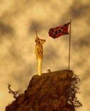 Последняя иллюстрация Конфедеративных Штатыов Америки салюта Стоковое Изображение RF
