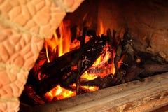 Последняя минута в древесине печи стоковые фото