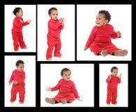 Последовательность африканского положения младенца Стоковые Фотографии RF