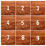 Последовательность номеров на таблице Стоковое Фото