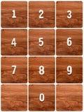 Последовательность номеров на таблице Стоковые Изображения