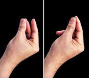 Последовательность пальца щелчковая, Pre и Пост-кнопка Стоковое фото RF