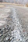 После дороги оползня Стоковое Изображение