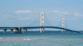После полудня крупного плана моста Mackinac Стоковое фото RF