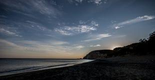 После полудня на совершенном пляже в острове Anafi Стоковая Фотография RF