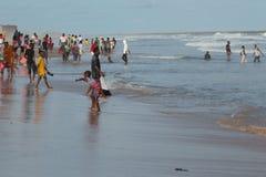 После полудня понедельника на пляже Обамы, Cotonou стоковое фото rf
