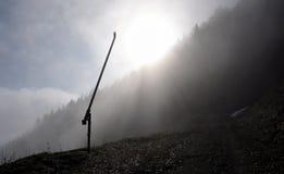 После сезона на наклоне лыжи Стоковые Изображения RF