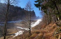 После сезона на наклоне лыжи Стоковое фото RF