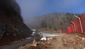 После сезона на наклоне лыжи Стоковая Фотография RF