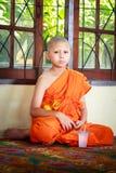 Послушник в Таиланде, молодой монах стоковое изображение