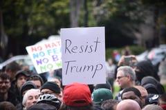 Потасовка свободы слова Дональд Трамп в Беркли Калифорнии Стоковое Фото