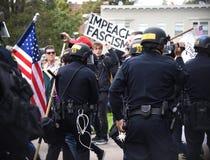 Потасовка свободы слова Дональд Трамп в Беркли Калифорнии Стоковая Фотография RF