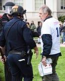 Потасовка свободы слова Дональд Трамп в Беркли Калифорнии Стоковое Изображение RF