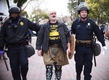 Потасовка свободы слова Дональд Трамп в Беркли Калифорнии Стоковые Фото