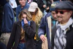 Потасовка свободы слова Дональд Трамп в Беркли Калифорнии Стоковое Изображение