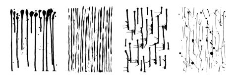 Потеки вектора излишка бюджетных средств Вертикальные линии, падают и брызгают d Стоковые Изображения RF