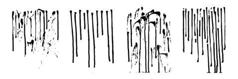 Потеки вектора излишка бюджетных средств Вертикальные линии, падают и брызгают d Стоковые Фото