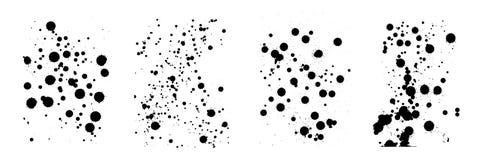 Потеки вектора излишка бюджетных средств Падения и брызгают различный размер S Стоковая Фотография RF