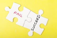 Потерпите неудачу или преуспейте Стоковые Фото
