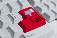 потерпите неудачу клавиатура вы Стоковые Изображения RF