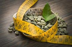 Потеряйте вес зеленым кофе Стоковые Изображения RF