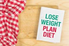 Потеряйте диету плана веса Стоковая Фотография