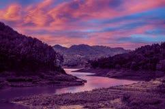 Потерянная долина на рассвете Стоковая Фотография