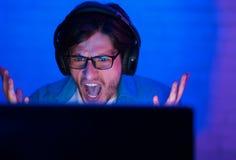 Потерянная игра Сердитая игра Gamer или ленты онлайн стоковые изображения rf