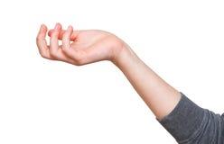 Потерянность - жест рукой с приданной форму чашки ладонью Стоковое Изображение RF