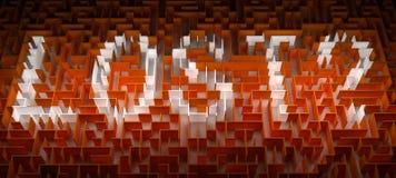 Потерянный лабиринт Стоковое фото RF