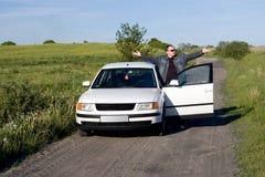 потерянный автомобиль стоковые фотографии rf