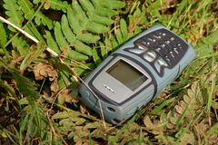 потерянный мобильный телефон Стоковое Фото